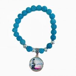bracelet perle lave personnalisé