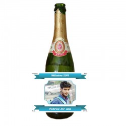 etiquette bouteille champagne personnalisee