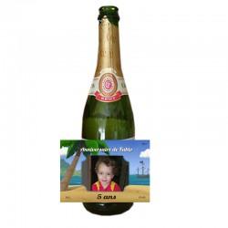 etiquette personnalisée pour bouteille champagne