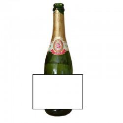 etiquette personnalisée pour bouteille de champagne