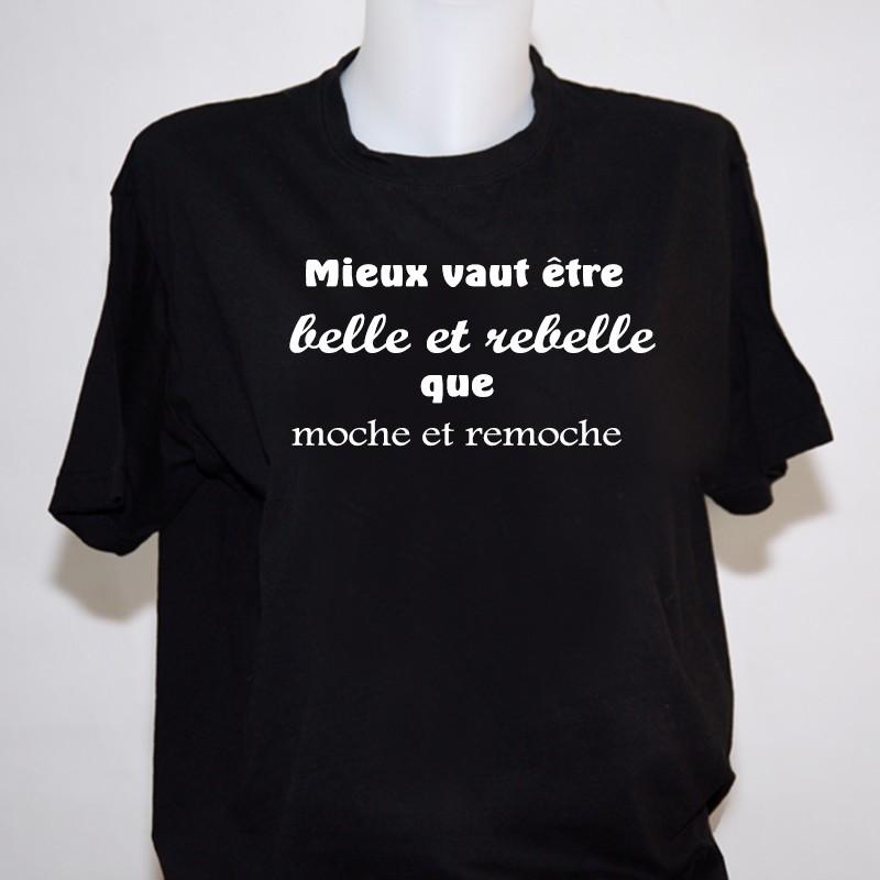 Tee Shirt Humour Femme - T-shirt noir Humoristique