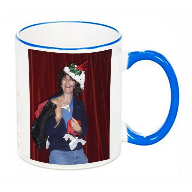 Avec Céramique Rouge Tasse En Personnalisée Photo Mug Anse ZXiuOPkwT