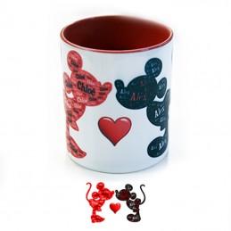 mug rouge personnalisé