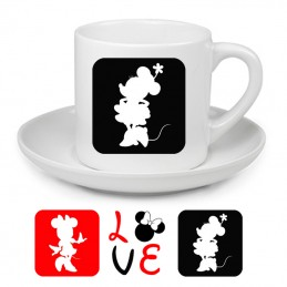 Tasse à café LOVE minnie