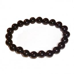 bracelet perles obsidienne
