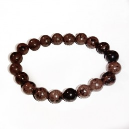 bracelet perles obsidienne acajou