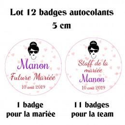 Badge autocollant modèle...