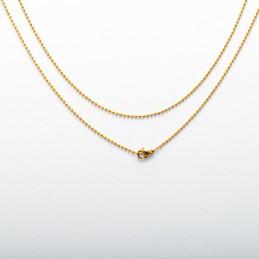 chaîne à billes plaqué or