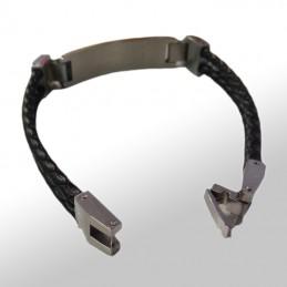 bracelet cuir noir à graver