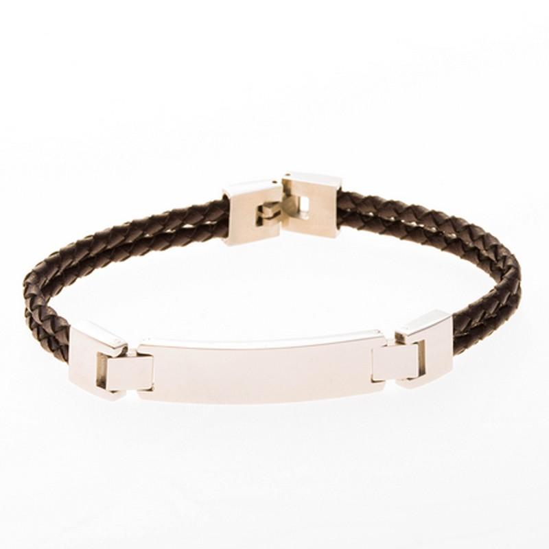 bracelet cuir marron personnalisé