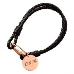 bracelet cuir tresse personnalisé