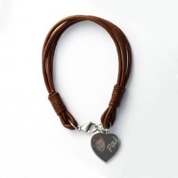bracelet cuir tressé personnalisé