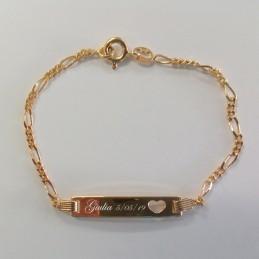 bracelet plaqué or personnalisé