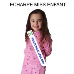 echarpe miss enfant personnalisée