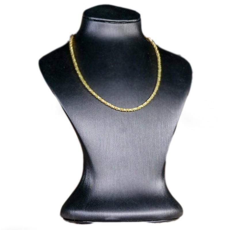 collier argent plaqué or