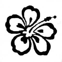modèle flocage fleur