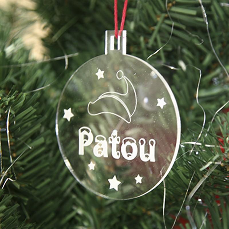 Boule de Noël personnalisée   Décoration de Noël personnalisable