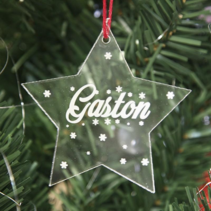 Boule de Noël étoile personnalisée