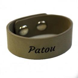 bracelet cuir gravé