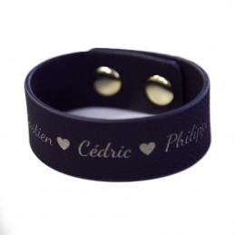 bracelet cuit gravé personnalisé