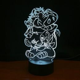 lampe led roi lion