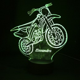 Lampe LED couleur moto