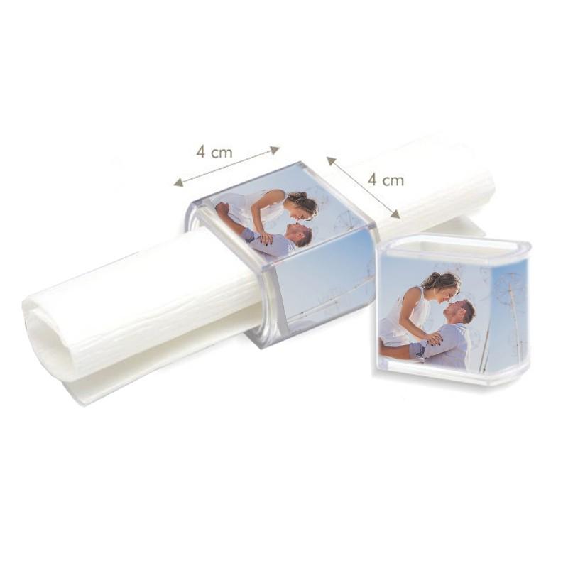 rond de serviette personnalisé avec photo