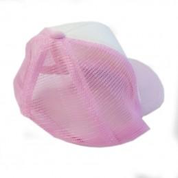 casquette rose filet