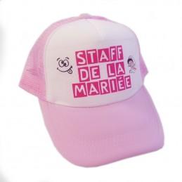 casquette rose personnalisée
