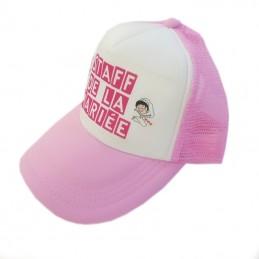 casquette rose à personnaliser