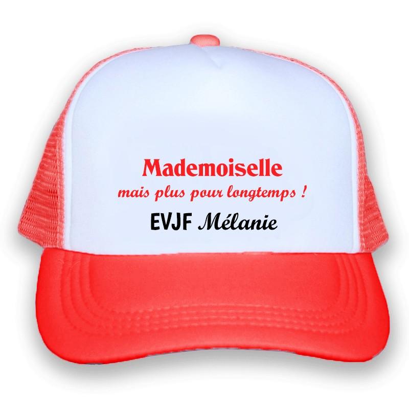 casquette rouge personnalisée