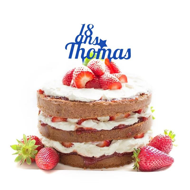cake topper personnalisé