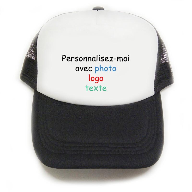 casquette noire à personnaliser