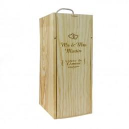 caisse à vin personnalisé
