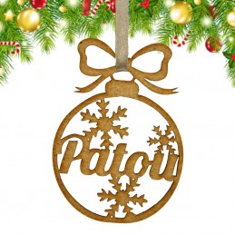 décoration sapin de Noël en bois
