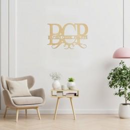 décoration bois prénoms