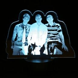 lampe led photo personnalisée