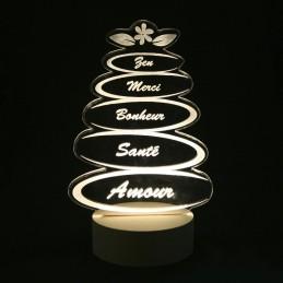 Lampe led pierres zen