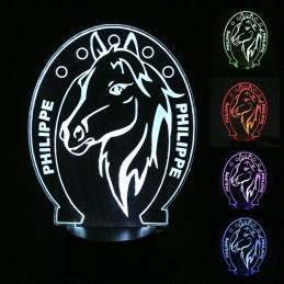 lampe led personnalisée cheval