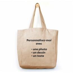 sac cabas en lin personnalisable