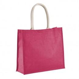 sac cabas jute rose