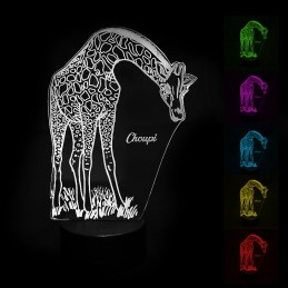 Lampe LED couleur girafe