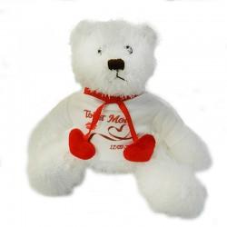 peluche ours blanc personnalisée