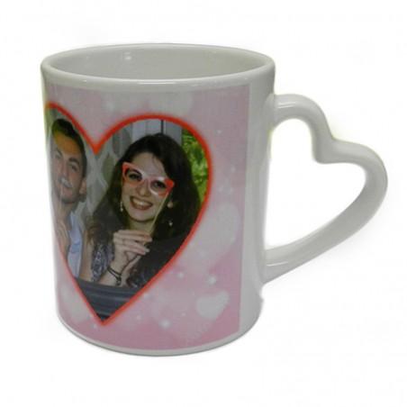 mug personnalis avec photo tasse avec anse coeur. Black Bedroom Furniture Sets. Home Design Ideas