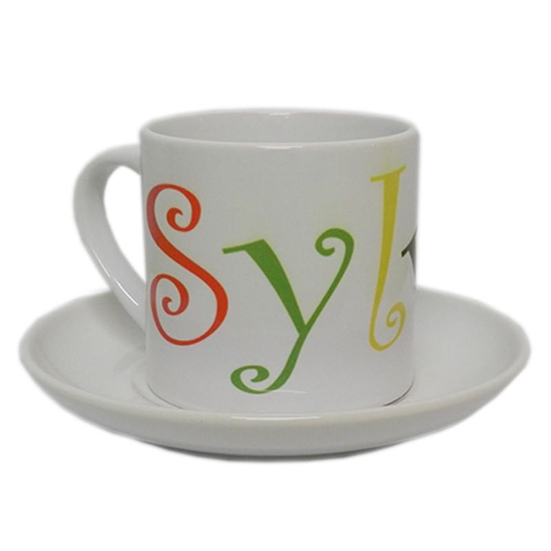 tasse caf personnalis e avec texte tasse caf blanche. Black Bedroom Furniture Sets. Home Design Ideas