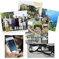 essuie lunette personnalisé avec photo - étui à lunettes personnalisé