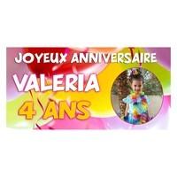 Banderole personnalisée avec photo et texte - Bannière anniversaire